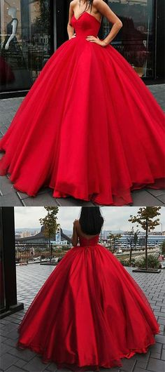 red tulle ball gowns wedding dress,strapless wedding dress,ball gowns quinceanera dress,ball gowns prom dresses 2018 By Lia Stublla♥️ Prom Dresses 2018, Cheap Prom Dresses, Quinceanera Dresses, Wedding Dresses, Gown Wedding, Red Wedding, Long Dresses, Tulle Wedding, Bridal Gown