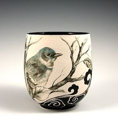 fine art clay cup by Carol Baker Cotton