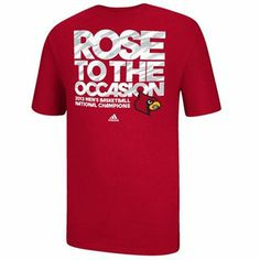 adidas Louisville Cardinals 2013 NCAA Men's Basketball National Champions We Rose T-Shirt - Red