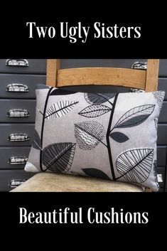 Stylish rectangle cushion in Greys and Beige with an abstract leaf print. We think that this cushion has a fab retro vibe Black Cushions, Printed Cushions, Floral Pillows, Cushions On Sofa, Home Wine Bar, Grey Tote Bags, Fabric Storage Baskets, Grey Room