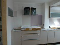 Installation of new ceramic hob - Colella Interiors kitchen installation process