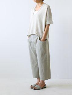 vintage wash drop pocket pants