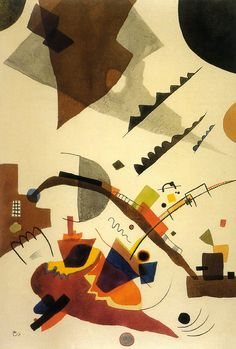 Wassily Kandinsky - 'Vibration' - (1924) [looks like a migraine to me...or some other awful, soul-wrenching agony. But that's just me....]