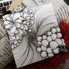 Zentangle Artwork from Rebecca Kuan r. : Zentangle Artwork from Rebecca Kuan r. Doodle Art Drawing, Zentangle Drawings, Doodles Zentangles, Art Drawings Sketches, Zentangle Patterns, Tangle Doodle, Zen Doodle, Drawing Ideas, Zantangle Art
