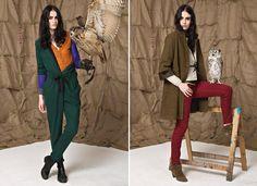 mismatched styling of Bellerose's winter lookbook