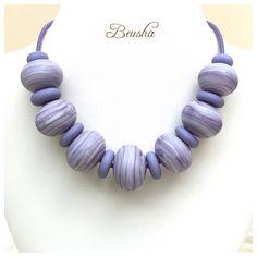 Ein persönlicher Favorit aus meinem Etsy-Shop https://www.etsy.com/de/listing/256851899/handmade-lampwork-necklace-purple-beusha
