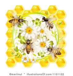 Royalty-Free (RF) Honey Bee Clipart Illustration by merlinul - Stock Sample Bee Clipart, Buzz Bee, I Love Bees, Bee Jewelry, Bee Art, Bee Crafts, Bee Design, Bee Happy, Save The Bees
