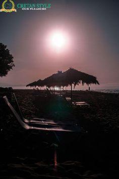 Sun down at the beach...