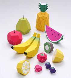 Lavoretti di primavera: come creare dei frutti di carta da stampare e costruire in 3D