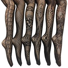 Frenchic Fishnet Lace Stocking Tights Extended Sizes (Pack of 6) ** Click image for more details.