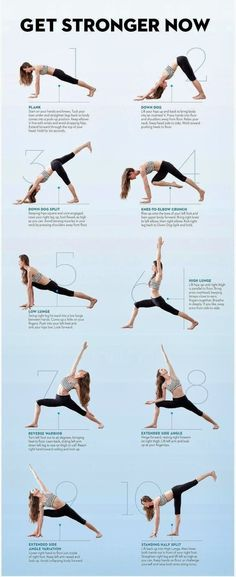 Yoga poses and stretches.