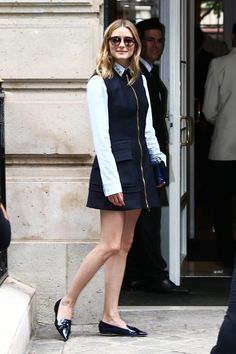 Olivia Palermo - Paris Fall 2016 Couture Fashion Week Street Style - July 2016