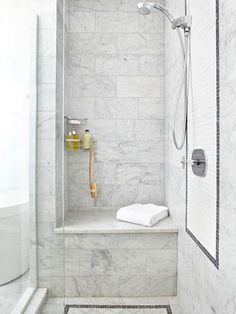 Our Favorite Bathroom Upgrades to Consider for Your Next Remodel Just like in a lavish spa, a seat in the shower will encourage a slower pace. Bathroom Tile Designs, Bathroom Renos, Master Bathroom, Bathroom Seat, Cozy Bathroom, Shower Bathroom, Master Shower, Bathroom Tiling, Bathroom Kids