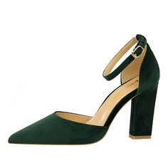 b251751ceee Pumps Women Shoes Black Party High Heels Sexy Thick Heels Hollow Shallow  Mouth Pointed Suede Thin