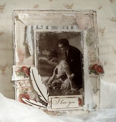 Shabby card by Minna. Paper collection: From My Heart II