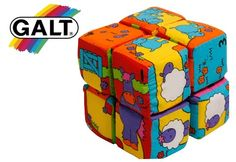 Your child will have countless hours of fun twisting and turning the colourful soft blocks to get twelve different animal pictures. Designed to encourage manipulative skills, the eight foam-filled blocks are connected with fabric hinges and feature a rattle in one block. Soft, safe and machine washable.    More info: http://www.babysteals.com.au/steal/168/Galt-Fun-Blocks-with-12-tumbling-picture-puzzles