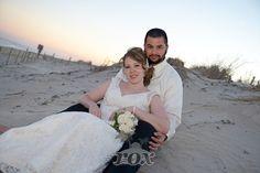 Beach Wedding Portrait on the dunes at Assateague island State Park - image by Rox Beach Weddings:  http://roxbeach.com/
