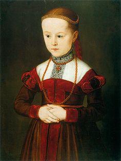 Nicolas Neufchatel: Archduchess Anna of Austria. 1539-1567