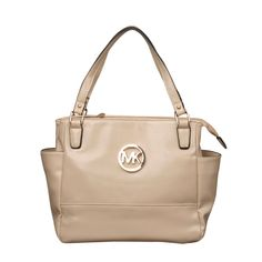Michael Kors Baby Saffiano Medium Ivory Totes only $72.99