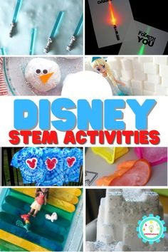 For Disney lovers, Disney STEM activities are where it's at! The 20 STEM activities on this list are inspired by Disney characters and shows. Elementary Science Experiments, Easy Science Projects, Science Crafts, Stem Projects, Projects For Kids, Math Activities For Kids, Science For Kids, Lego Challenge, Disney Movies