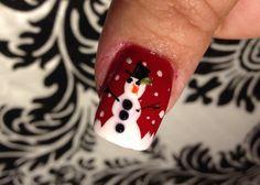 Snowman Nail Design