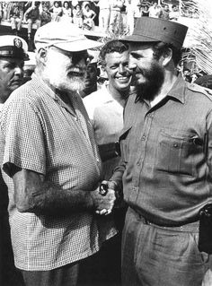 Ernest Hemingway with his pal Fidel Castro