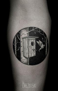 Tattoo em blackwork, pontilhismo - Ilya Brezinski
