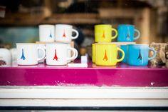 HiP Paris Blog, Photo by Mike Kandel, Eiffel Tower mugs!
