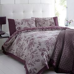 Purple 'Luciana' floral bed linen - Duvet covers & pillow cases - Bedding - Home & furniture -