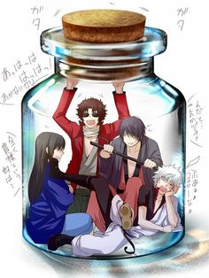 Tags: Anime, Yasshaa, Gin Tama, Sakamoto Tatsuma, Katsura Kotaro, Takasugi Shinsuke, Sakata Gintoki