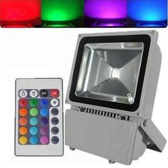 Veja nosso novo produto Refletor Led 100W RGB C/ Controle! Se gostar, pode nos ajudar pinando-o em algum de seus painéis :)