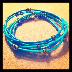 Leather wrap bracelet. #diy