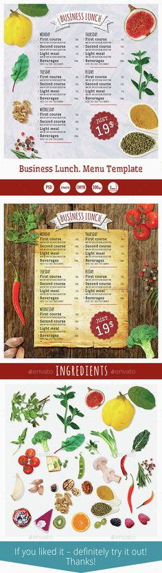 Christmas Menu Template V8 u2014 Photoshop PSD #christmas #card - lunch menu template