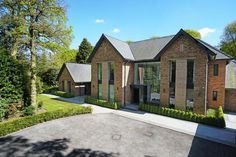 6 bedroom detached house for sale in Fabulous contemporary house in beautiful one acre garden on Leycester Road, Knutsford , WA16 Home Building Design, Building A House, House Design, Building Ideas, Octagon House, Bungalow Extensions, Modern Mansion, Modern Homes, Riverside House