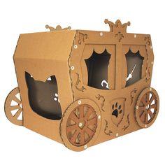 Royal Cardboard Cat House is sustainable cat bed, suitable for your home interior, build from cardboard - a favorite material for your cat. Cardboard Furniture, Cat Furniture, Kitty King, Cardboard Cat House, Gotcha Day, Cat Cave, Cat Condo, Fluffy Animals, Animal Party