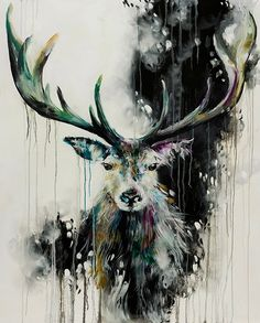 Katy Jade Dobson is a UK based oil painter from Yorkshire. Katy Jade Dobson uses a number of mediums to paint her amazing pieces. Oil Painting Abstract, Painting & Drawing, Watercolor Art, Animal Paintings, Animal Drawings, Deer Art, Wildlife Art, Artist Canvas, Medium Art