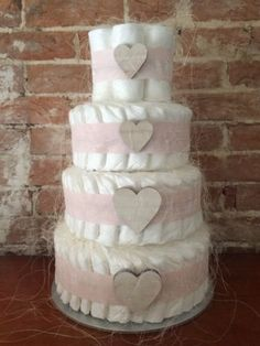 Nappy cake #perfect gift for baby #showers or #newborn baby girl arrival present, View more on the LINK: http://www.zeppy.io/product/gb/2/221951535919/