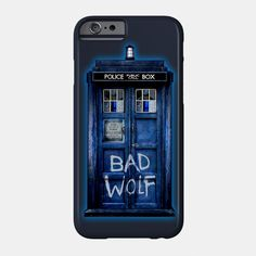 Blue Phone booth with Bad wolf grafitti Phone Case #teepublic #Accessories #Case #CellPhone #iPhonecase #hardcase #slimcase #slim #tardis #doctorwho #policecallbox #bluephonebooth #phonebooth #doctorwho #tardisbadwolf #britishflag #unionjack