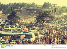 KOSTRZYN NAD ODRA, POLAND - Przystanek Woodstock (Woodstock Festival), biggest summer open air ticket free rock music festival in Europe, vintage style. Music Festivals Europe, Free Rocks, Woodstock Festival, Air Tickets, Rock Music, Poland, Vintage Style, Concert, Big