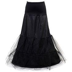 HIMRY Design en y sirène jupon jupon Crinoline jupon nuptiale de mariage, 2 cerceau, noir, KXB-004-black: Amazon.fr: Vêtements et accessoires