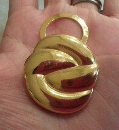 Vintage golden tone clip in Earrings | eBay
