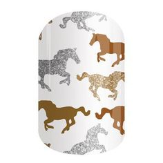 Horses!! Horses for nails!!! ❤️❤️❤️ non-toxic nail wraps are SO cute for any horse lover!!