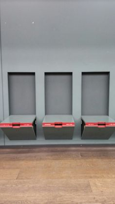 folding seats in a theater lobby