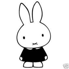 Stencils, Dutch Rabbit, Baby Silhouette, Car Window Stickers, Diy Ostern, Miffy, Honey Bunny, Pebble Painting, Kawaii