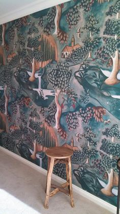 One of our beautiful clients shared with us this stunning picture that she took of her ZOFFANY wallpaper from the ARDEN collection. Definitely an inspiring studio space!!!