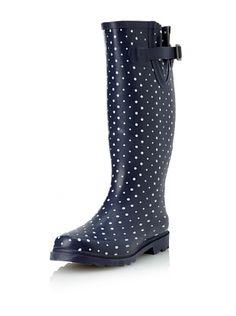 Chooka Posh Dots Rain Boot Navy Navy And White Rain Boots Me