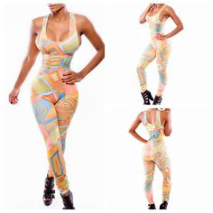 high quality jumpsuit 2014 Hot Sleeveless Strap O-Neck Print  Rompers Womens Jumpsuit overalls for women playsuits   $16.98
