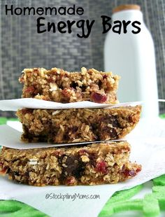 Homemade Energy Bars are the best! Cost very little to make and taste amazing! #homemade http://www.stockpilingmoms.com/2014/07/homemade-energy-bar/?utm_campaign=coschedule&utm_source=pinterest&utm_medium=Stockpiling%20Moms%20(Best%20of%20Stockpiling%20Moms)&utm_content=Homemade%20Energy%20Bar