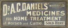 Dr. A.C. Daniels' Veterinary Medicines   Peachridge Glass
