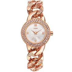 Time100 Natural Shell Dial Diamonds Mosaic Quartz Bracelet Watch for LadiesW50325L01A *** Click image to review more details.